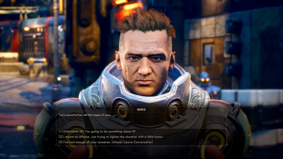 The Outer Worlds release date speech