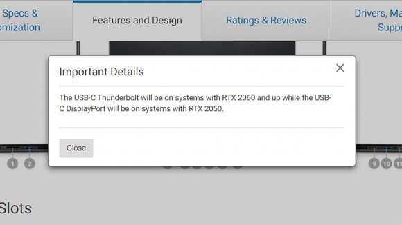 Dell RTX 2050 listing