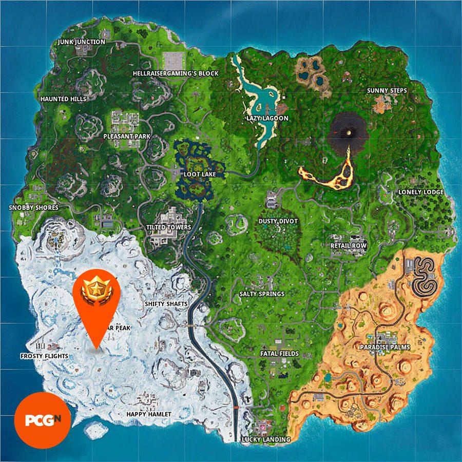 Fortnite Season 8 Base Map polar peak