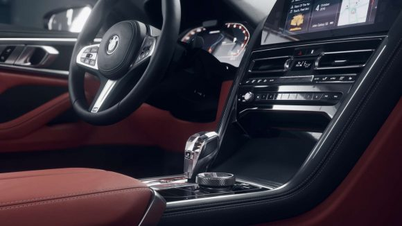 Interior of a BMW rendered using Unity's real-time ray tracing