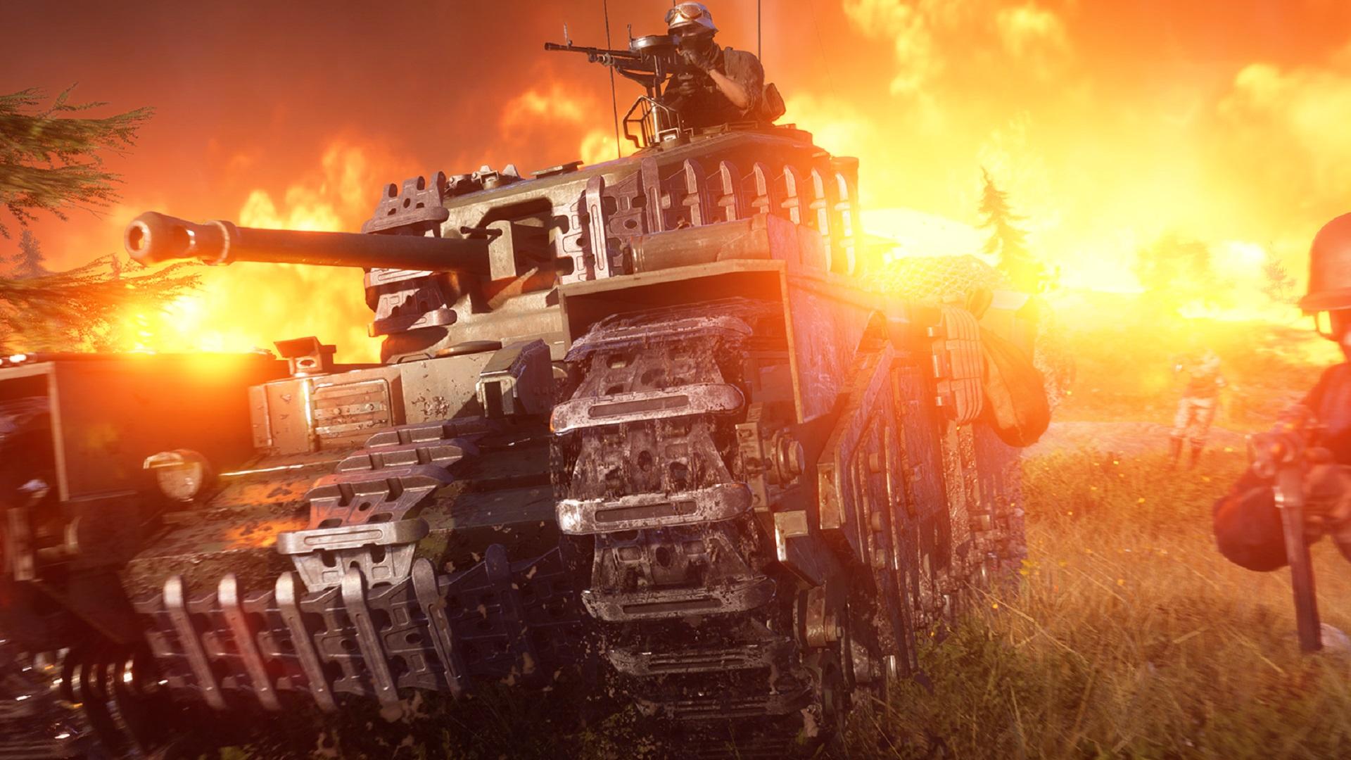 Tank in Battlefield 5's Firestorm