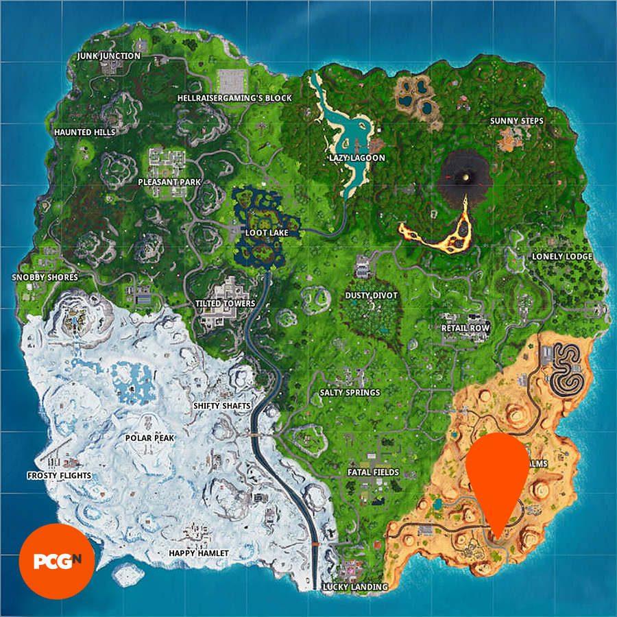 fortnite giant face desert map