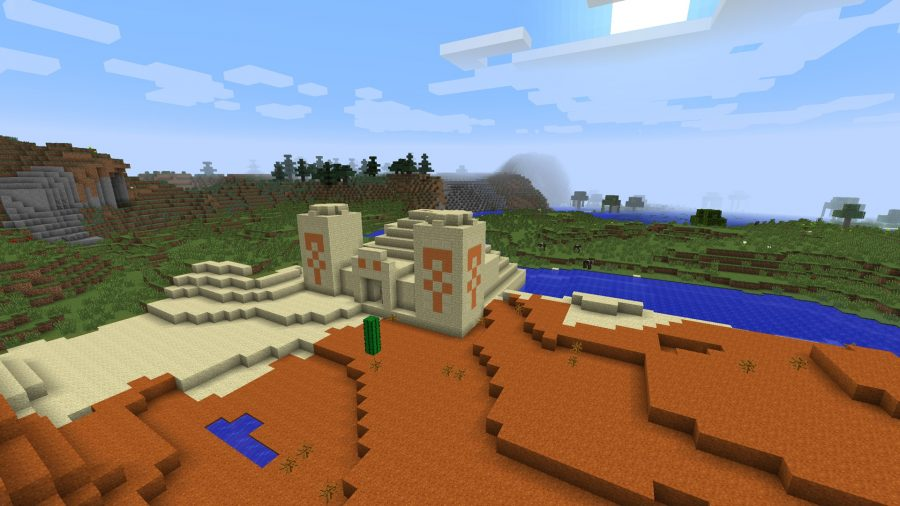 minecraft-seed-desert-temple-on-river-bank