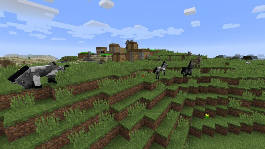 minecraft-seed-horses-village