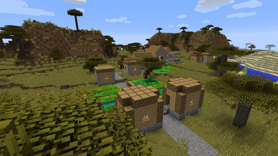 minecraft-seed-loot-heavy-starting-village