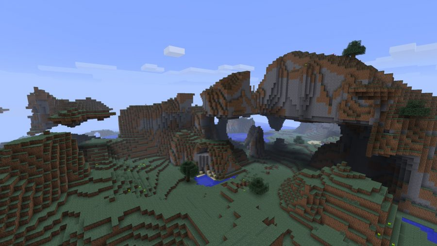 minecraft-seed-mountain-range-with-holes