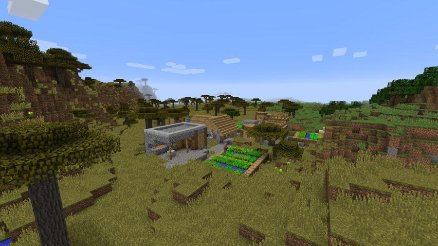 minecraft-seed-starting-village-tree-resource
