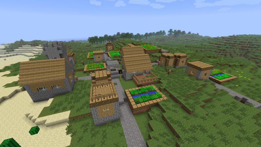minecraft-two-villages