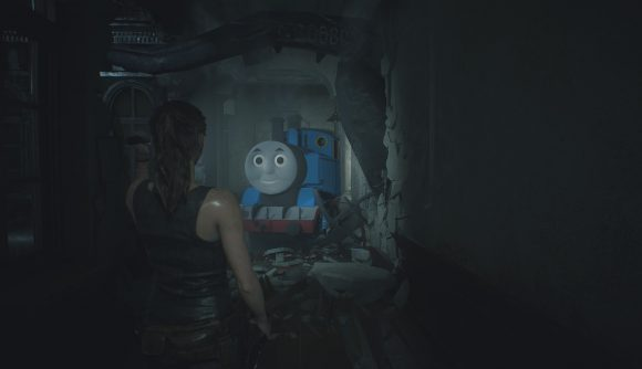 Replace Resident Evil 2 S Mr X With Thomas The Tank Engine Using