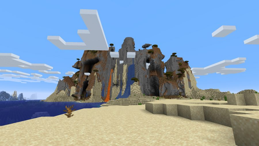 minecraft seeds water and fire mountain
