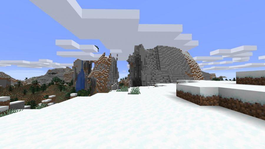 minecraft best seeds snowy mountain