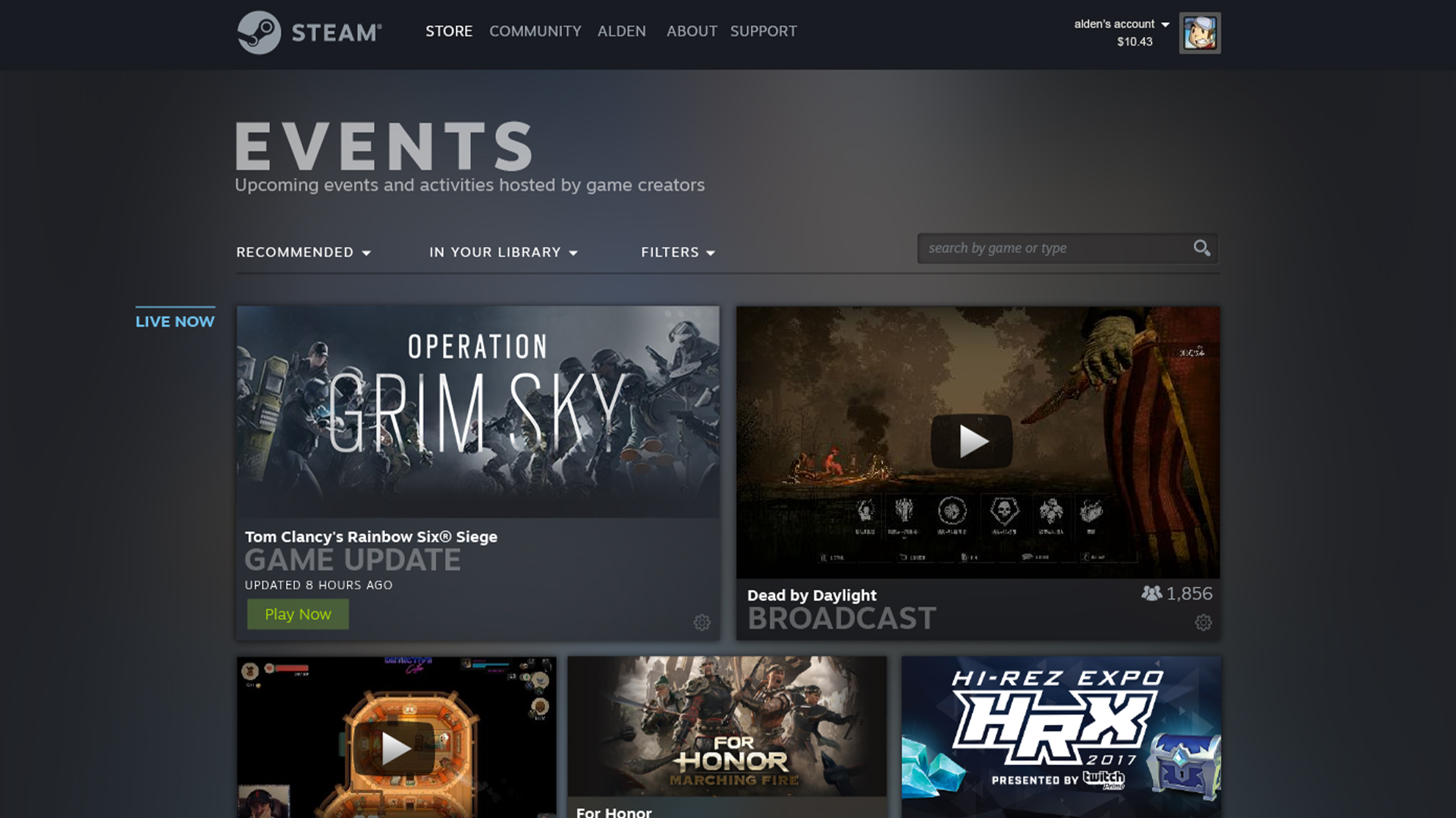 Steam Events