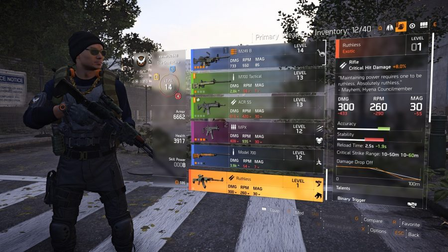 the division 2 ruthless rifle