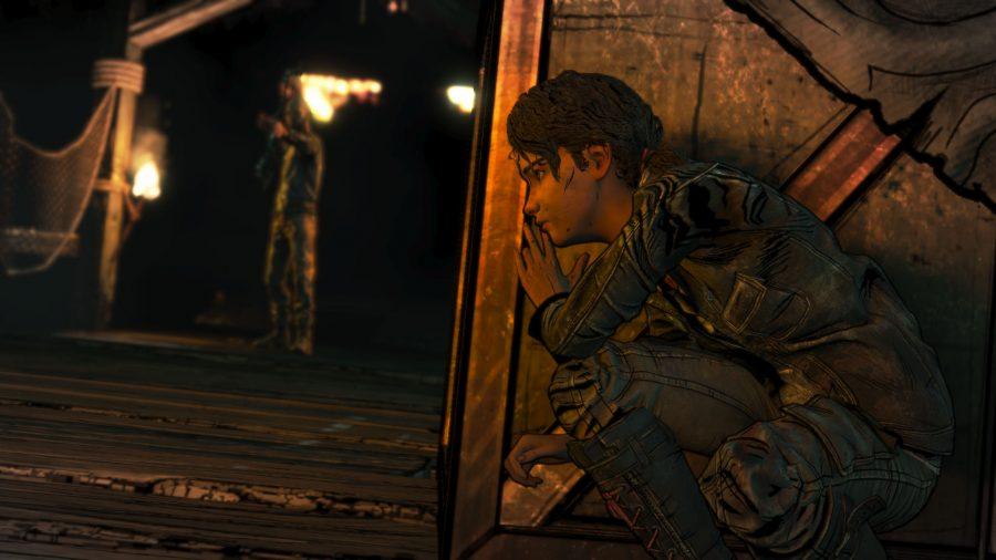 The Walking Dead sneaking