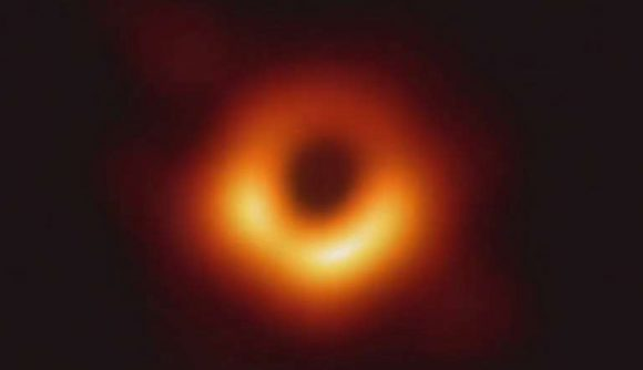 The first image of a black hole published by NASA