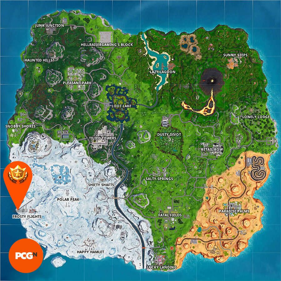 Fortnite search the x paradise palms