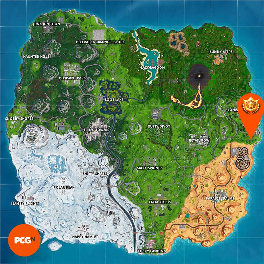 Fortnite search where knife points treasure map loading screen map