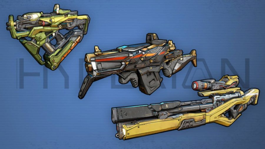 borderlands 3 hyperion weapons