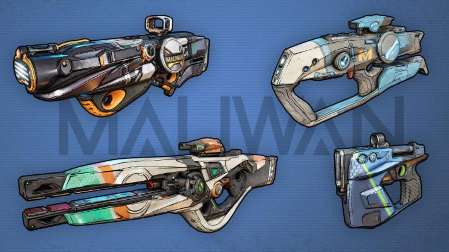 borderlands 3 maliwan weapons