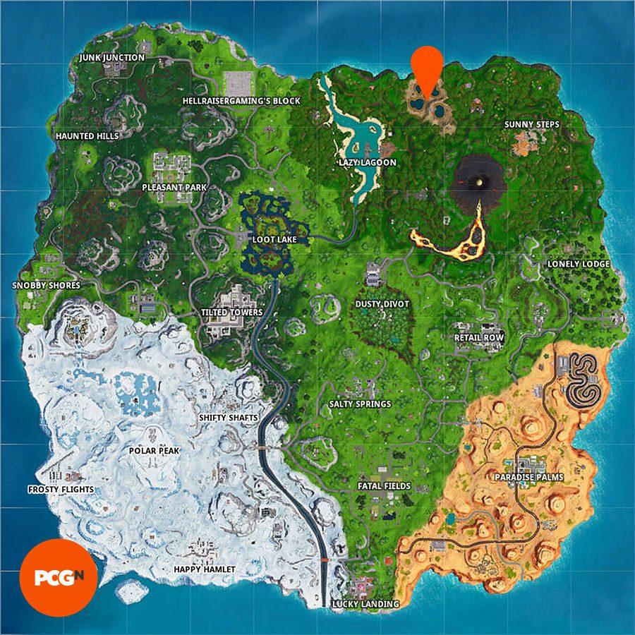 fortnite dance between four hotsprings map