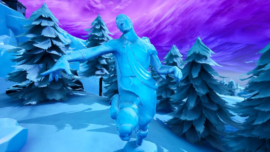 fortnite dance between three ice sculptures