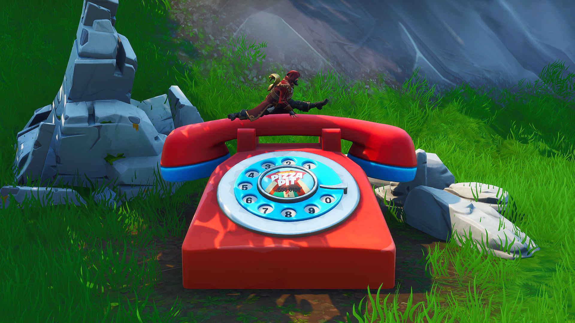Fortnite: dial Pizza Pit number, big telephone location