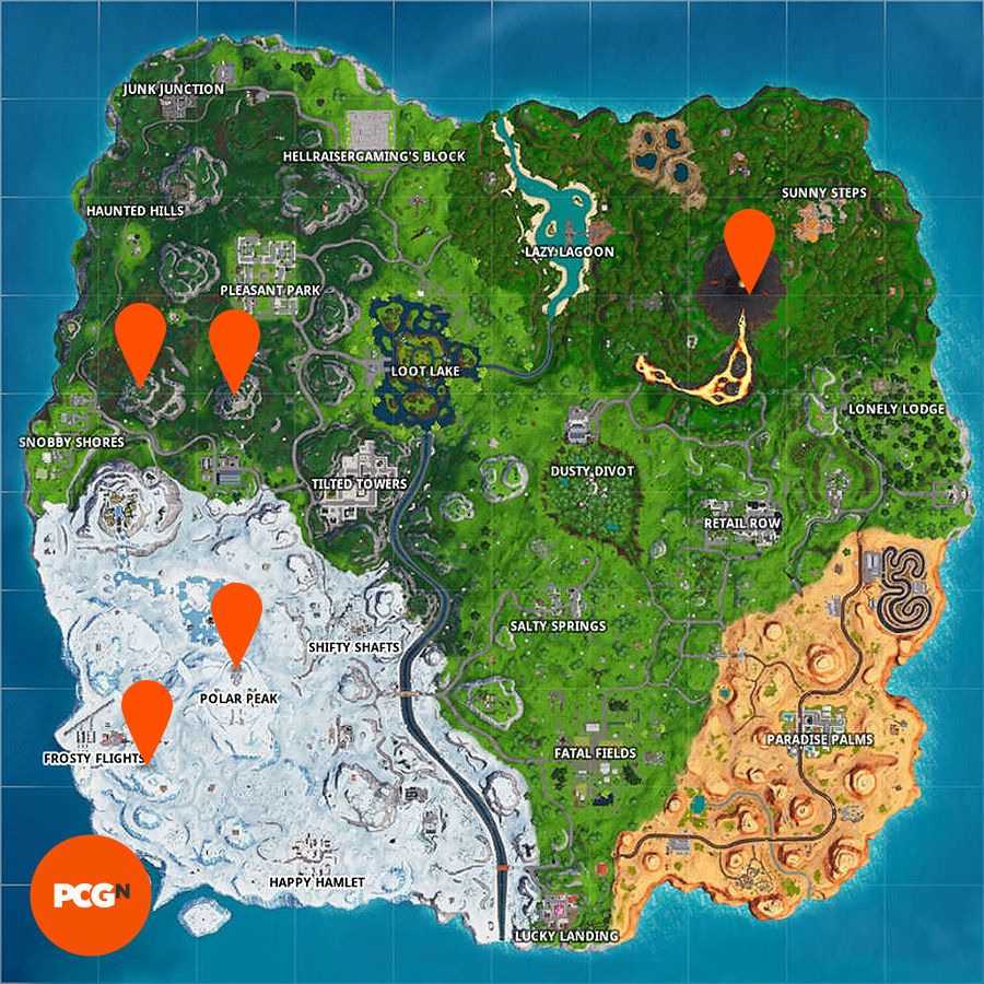 Fortnite challenges: visit the 5 highest elevations on the ...