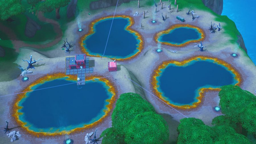 Fortnite Dance Hot Springs Map Locations: Week 9 Challenge location Steps Revealed