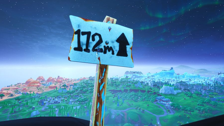 fortnite challenges visit the 5 highest elevations on the island - visit highest elevations fortnite locations