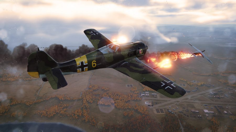 An aerial battle in one of the best free Steam games, World of Warplanes