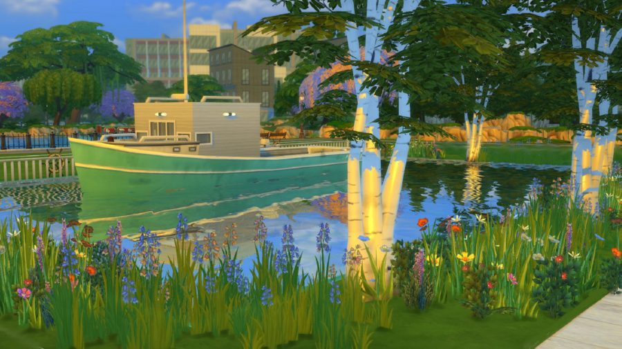 The Sims 4 house boat