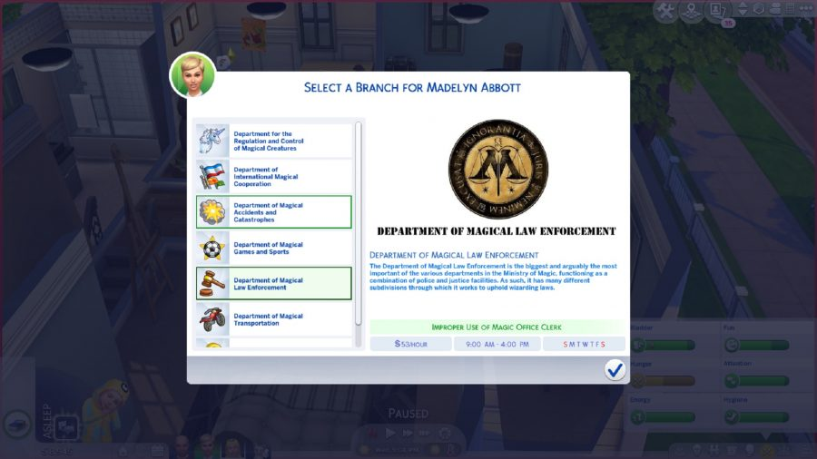 The Sims 4 magic career