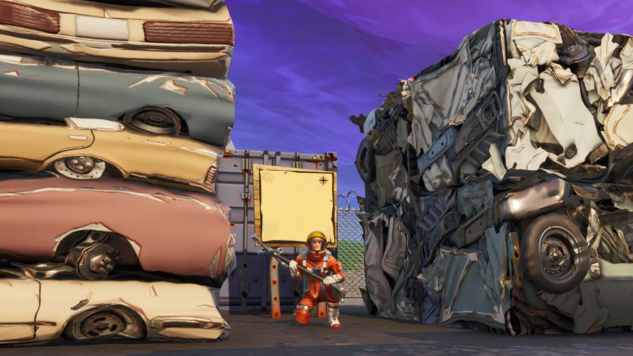 Fortnite Junk Junction Treasure Map Signpost Where To Follow The