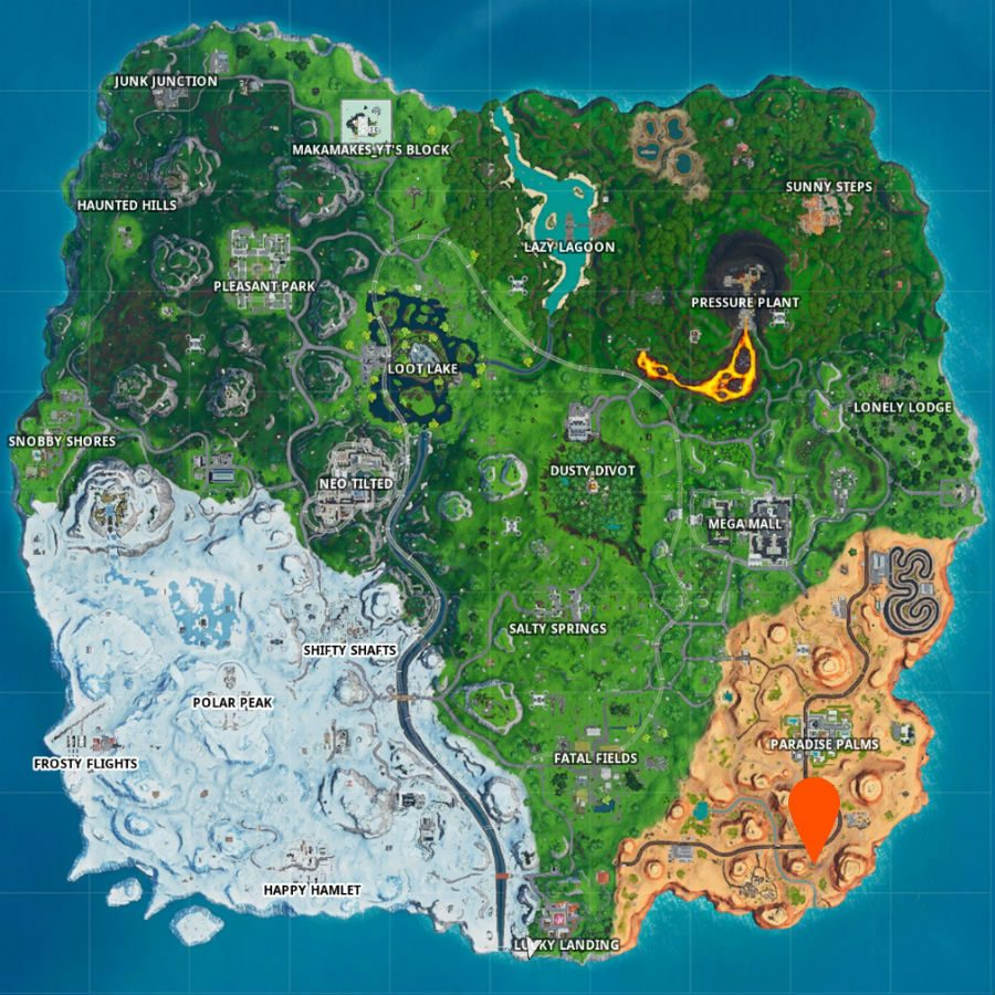 Fortnite fortbyte 13 map