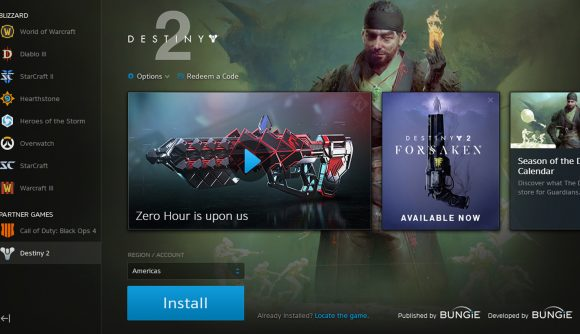 Battlenet Patch Removes Credits To Activision On Destiny 2 Pcgamesn