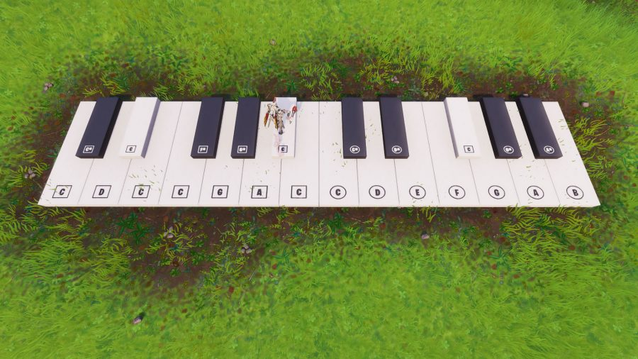 Fortnite: visit an oversized piano challenge guide | PCGamesN