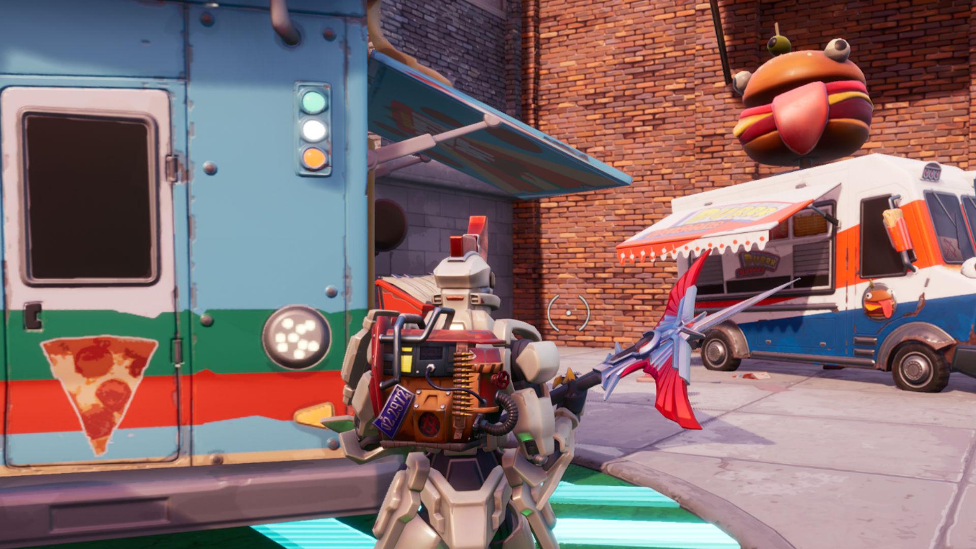 Fortnite: dance or emote between two food trucks ...