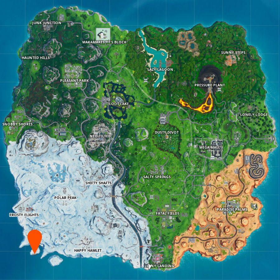 fortnite frozen island fortbyte 36 map