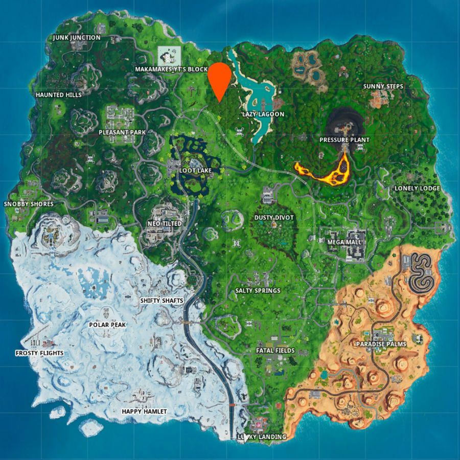 mpa showing where to find fortnite fortbyte 47