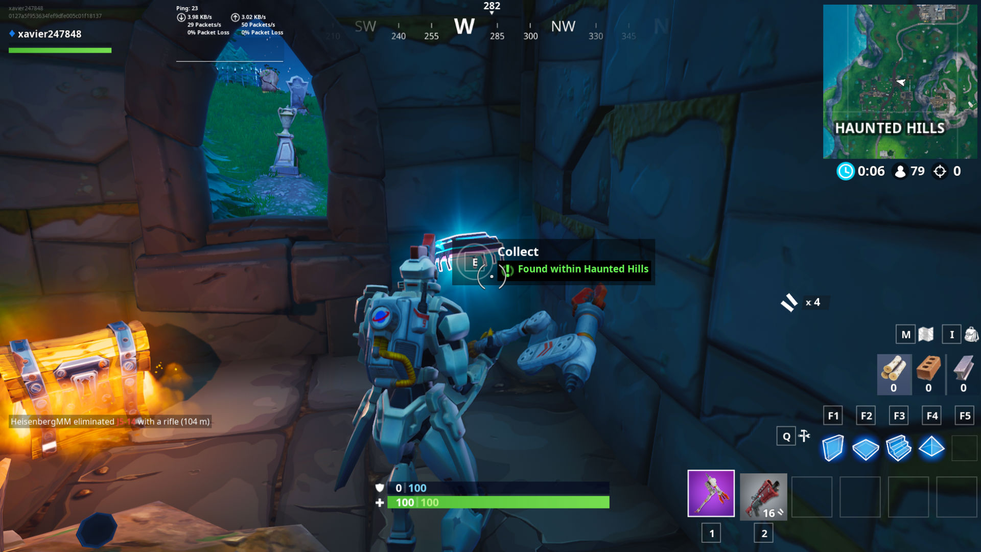 Fortnite Fortbyte #55 Location - Found Within Haunted Hills