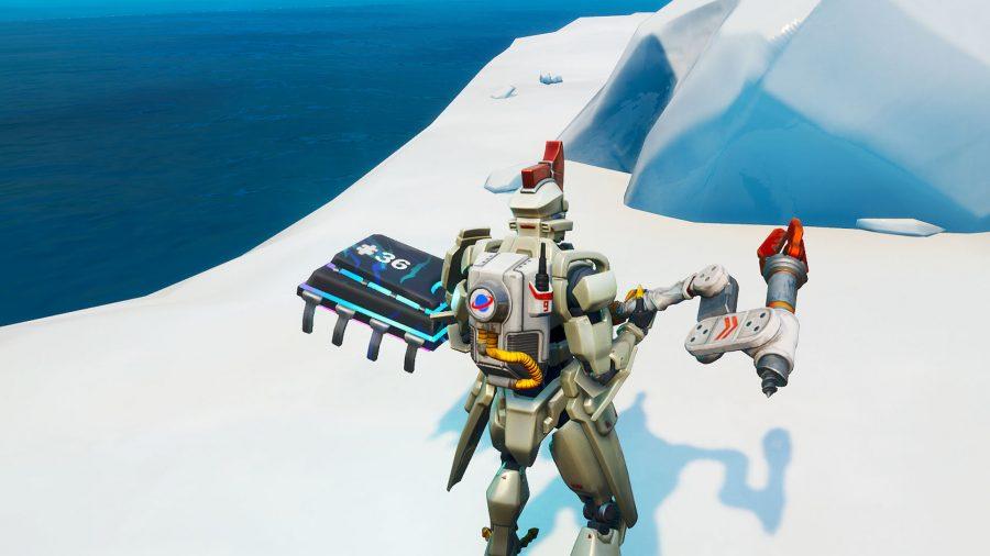 fortnite frozen island fortbyte as sentinel
