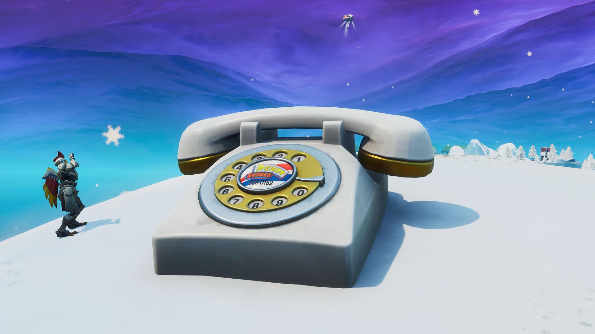 fortnite oversized phone - big telephone fortnite map