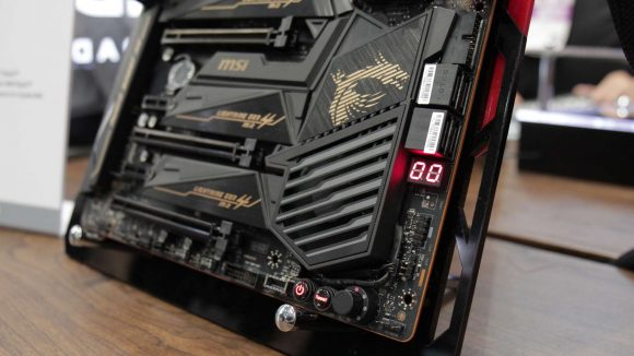 MSI X570 motherboard chipset fan