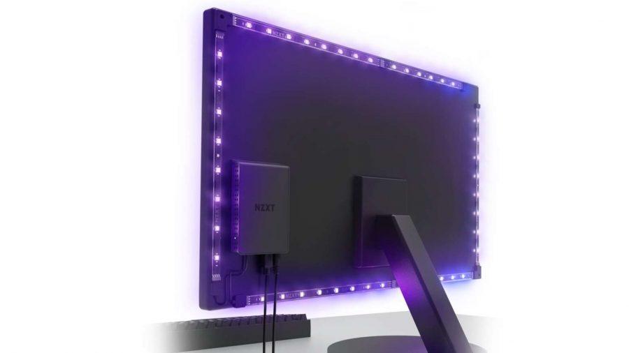 NZXT HUE 2 Ambient Lighting Kit setup