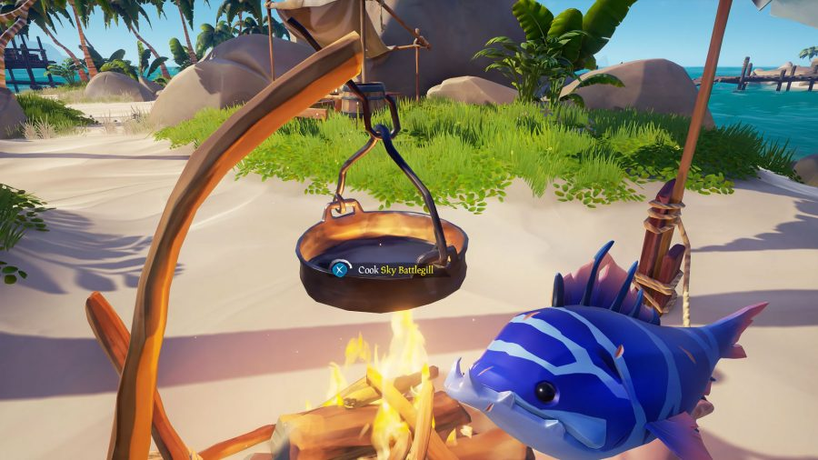 sea of thieves fishing cooking