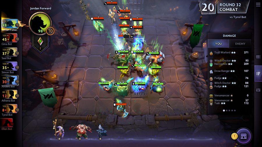 battle scene in dota underlords
