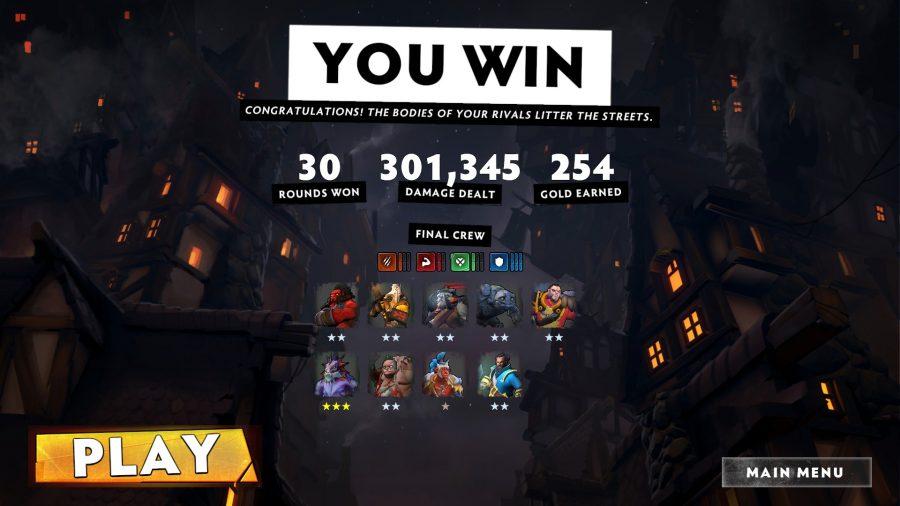 winning screen in dota underlords