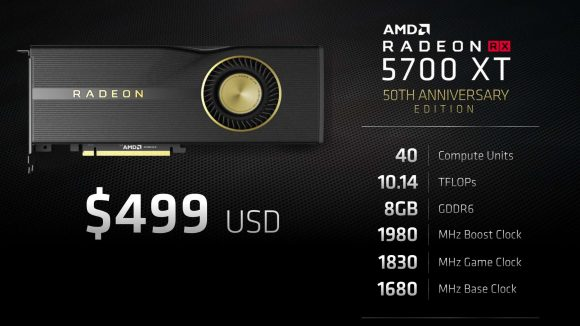 AMD RX 5700 XT Anniversary Edition specs