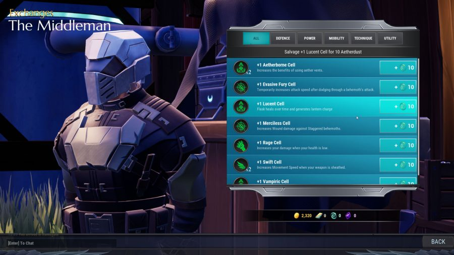 aetherdust middleman prices in dauntless