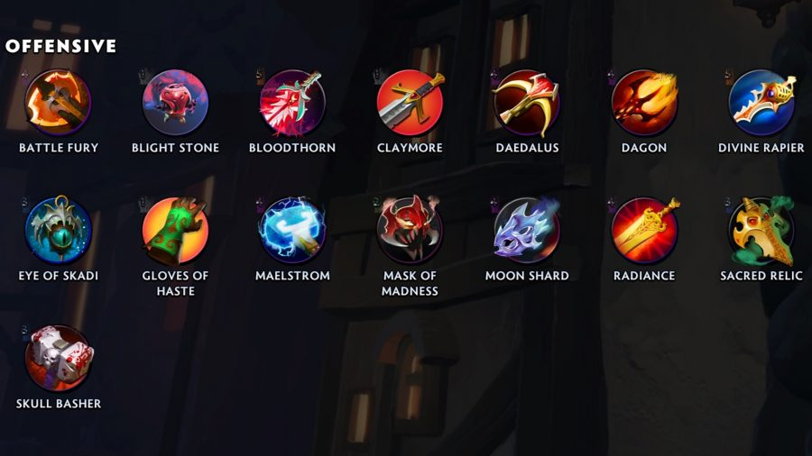 items in dota underlords